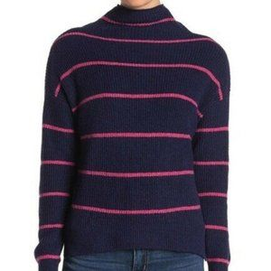 NWT ABOUND MOCK NECK STRIPED SWEATER